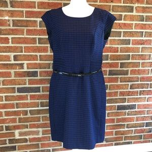 Worthington Blue & Black Dress Patent Leather Belt